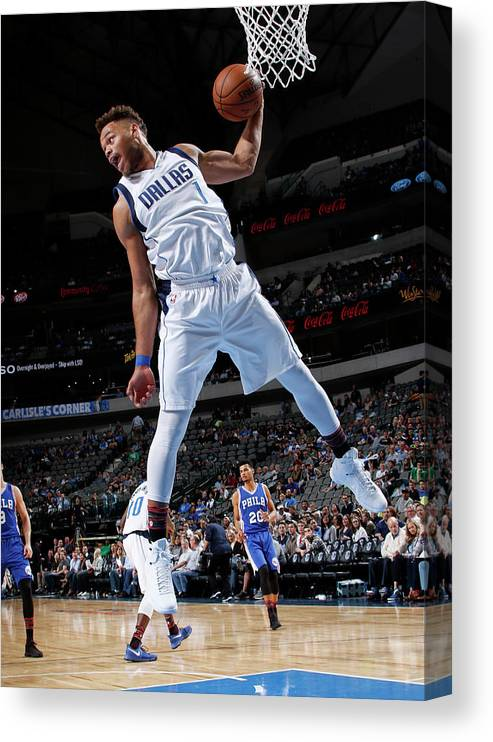 Nba Pro Basketball Canvas Print featuring the photograph Justin Anderson by Glenn James