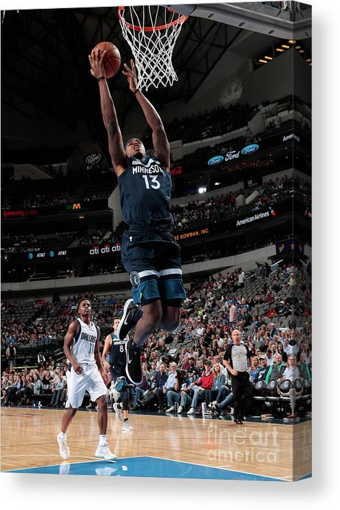 Nba Pro Basketball Canvas Print featuring the photograph Marcus Georges-hunt by Glenn James