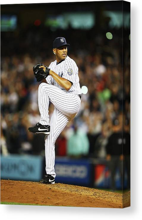 Ninth Inning Canvas Print featuring the photograph Mariano Rivera by Al Bello