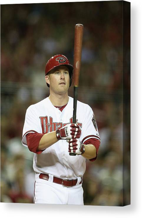 National League Baseball Canvas Print featuring the photograph Mark Trumbo by Christian Petersen