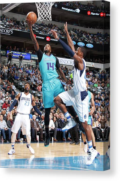 Nba Pro Basketball Canvas Print featuring the photograph Michael Kidd-gilchrist by Danny Bollinger