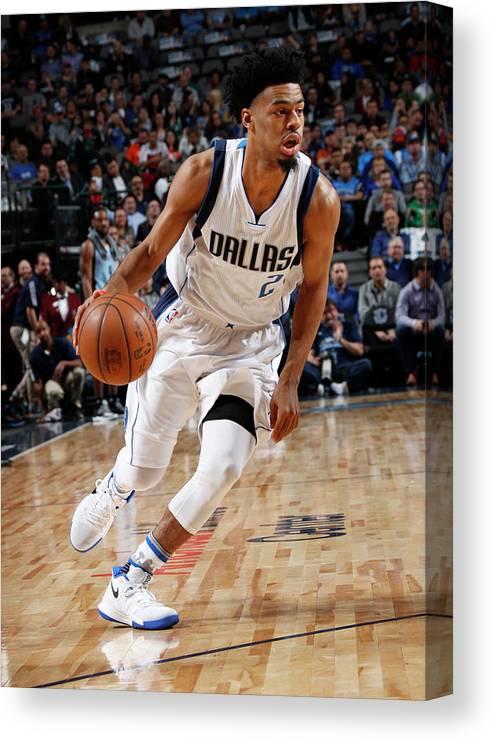 Nba Pro Basketball Canvas Print featuring the photograph Quinn Cook by Glenn James