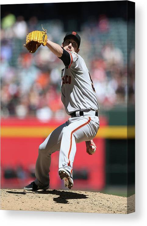 Tim Lincecum Canvas Print featuring the photograph Tim Lincecum by Christian Petersen