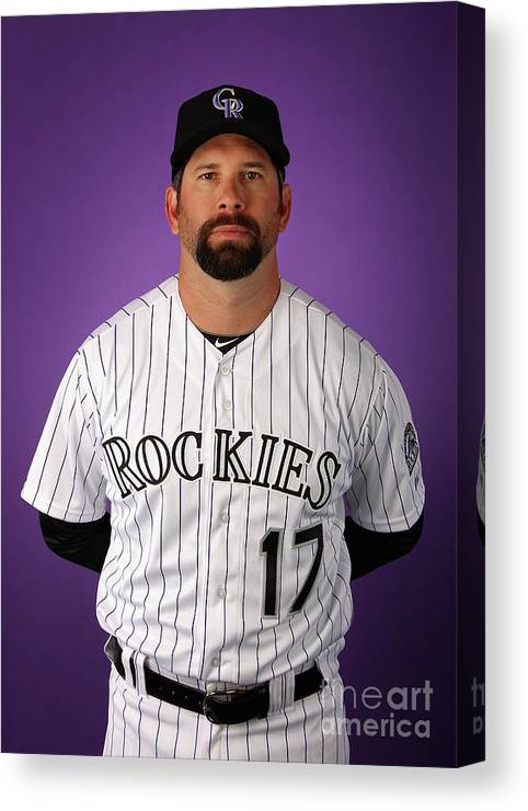 Media Day Canvas Print featuring the photograph Todd Helton by Christian Petersen