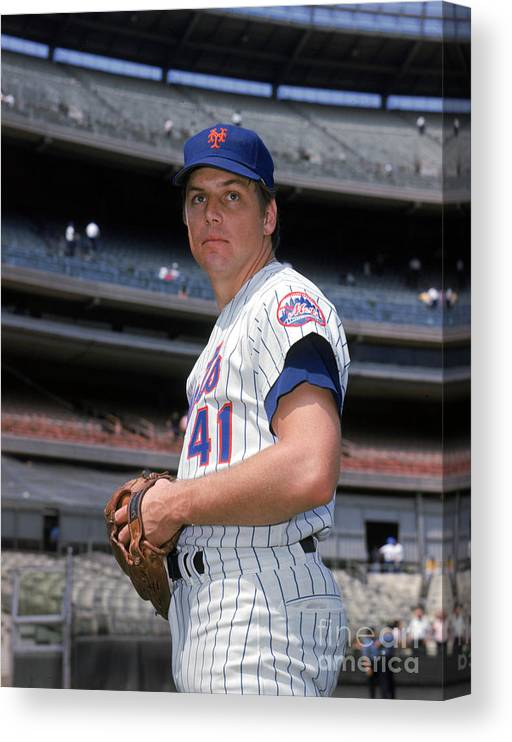 Tom Seaver Canvas Print featuring the photograph Tom York by Louis Requena