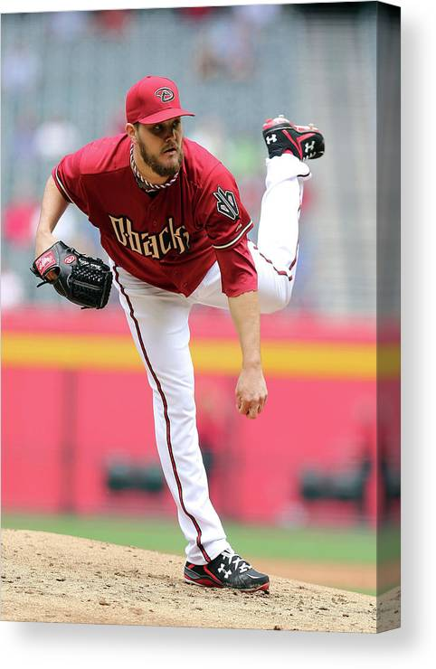 Baseball Pitcher Canvas Print featuring the photograph Wade Miley by Christian Petersen