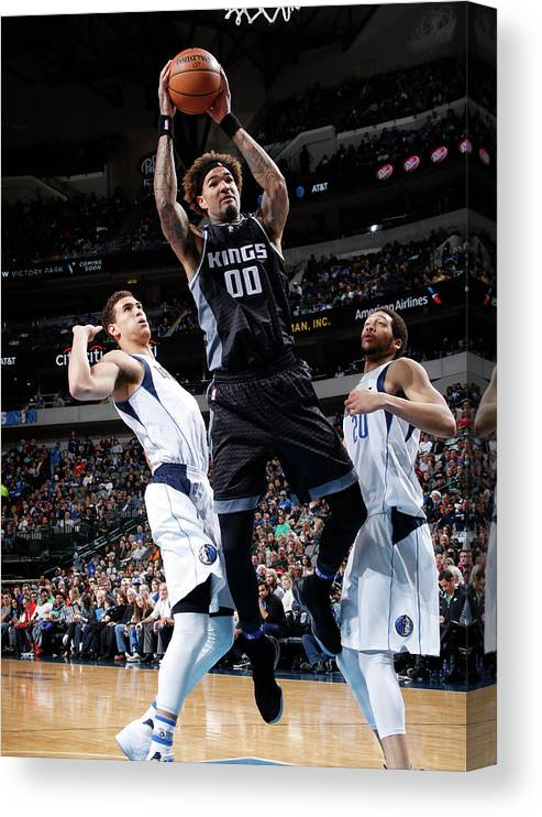 Nba Pro Basketball Canvas Print featuring the photograph Willie Cauley-stein by Glenn James