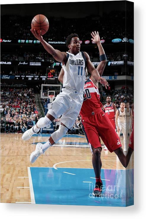 Nba Pro Basketball Canvas Print featuring the photograph Yogi Ferrell by Glenn James