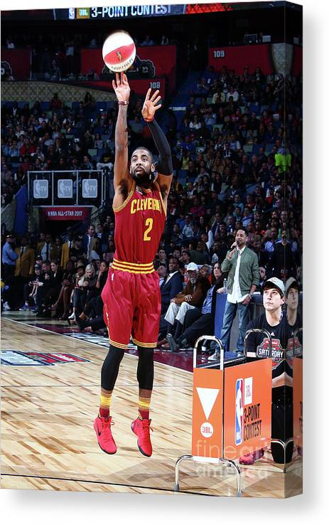 Event Canvas Print featuring the photograph Kyrie Irving by Nathaniel S. Butler