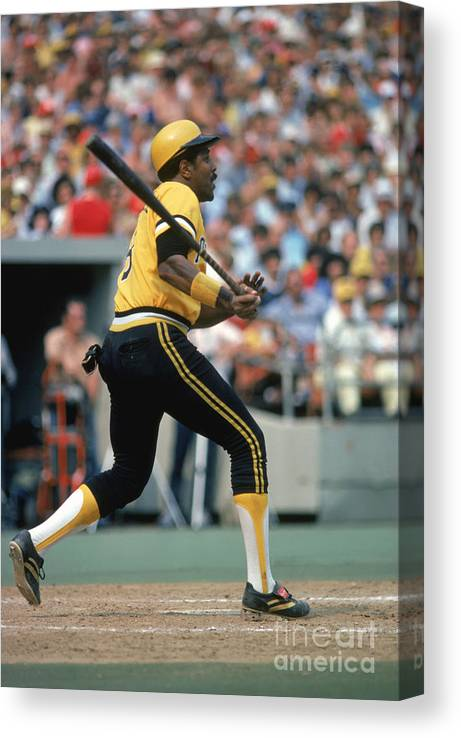 Motion Canvas Print featuring the photograph Willie Stargell by Rich Pilling