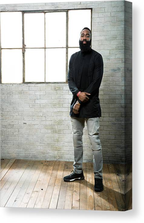 Nba Pro Basketball Canvas Print featuring the photograph James Harden by Nathaniel S. Butler