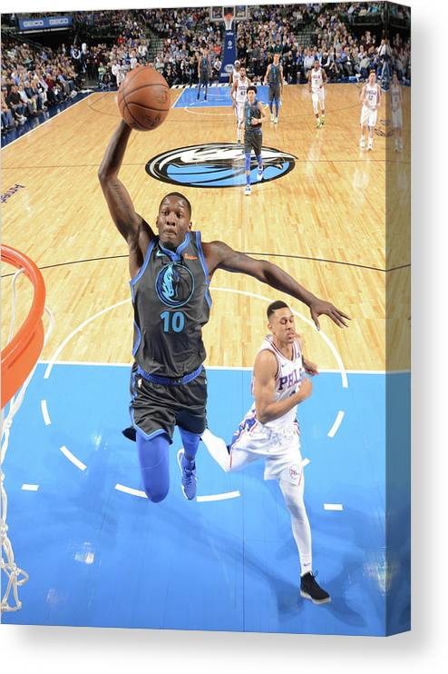Nba Pro Basketball Canvas Print featuring the photograph Dorian Finney-smith by Glenn James