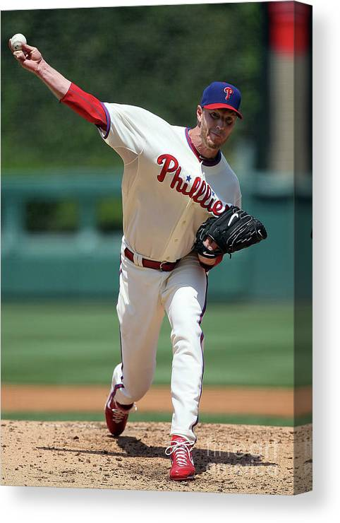 People Canvas Print featuring the photograph Roy Halladay by Jim Mcisaac