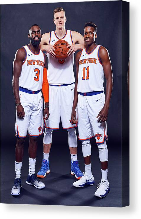 Media Day Canvas Print featuring the photograph Tim Hardaway by Jennifer Pottheiser