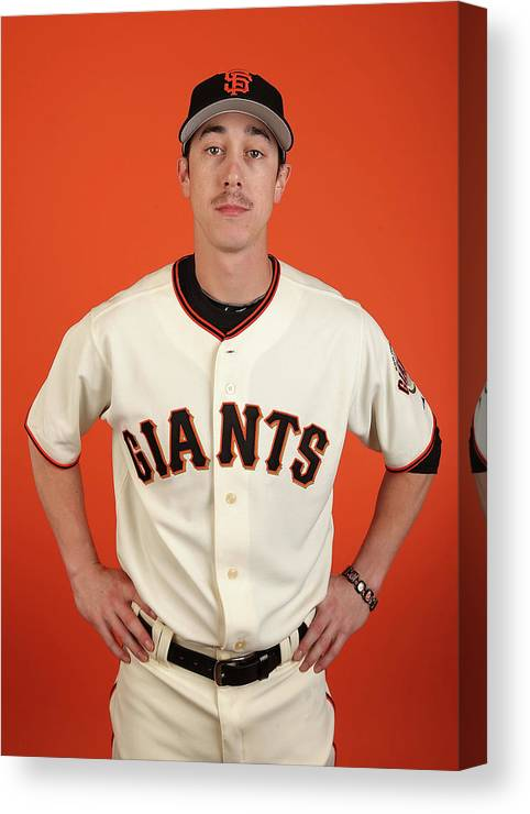 Media Day Canvas Print featuring the photograph Tim Lincecum by Christian Petersen