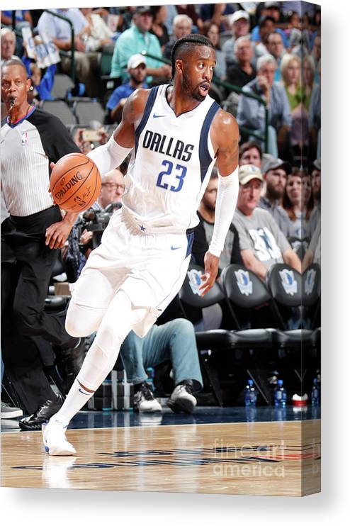 Nba Pro Basketball Canvas Print featuring the photograph Wesley Matthews by Danny Bollinger