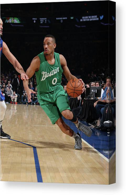 Nba Pro Basketball Canvas Print featuring the photograph Avery Bradley by Nathaniel S. Butler