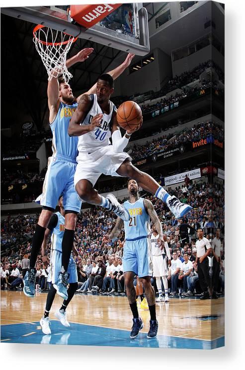 Nba Pro Basketball Canvas Print featuring the photograph Harrison Barnes by Glenn James