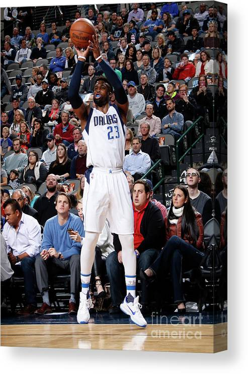 Nba Pro Basketball Canvas Print featuring the photograph Wesley Matthews by Glenn James