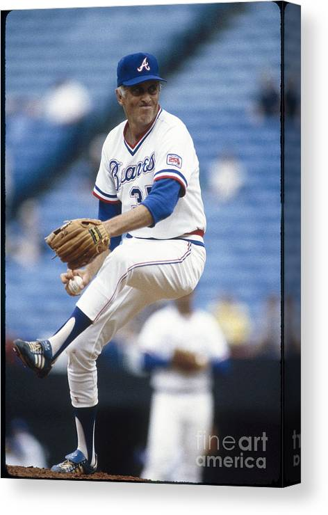 Atlanta Canvas Print featuring the photograph Phil Niekro by Rich Pilling