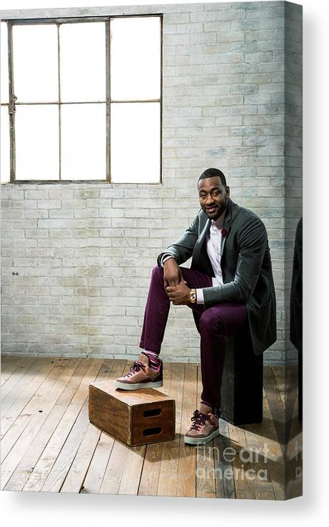 Nba Pro Basketball Canvas Print featuring the photograph John Wall by Nathaniel S. Butler