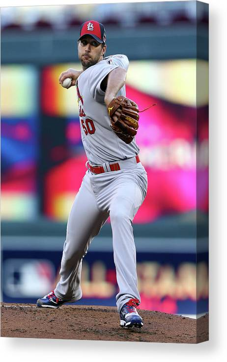 St. Louis Cardinals Canvas Print featuring the photograph Adam Wainwright by Elsa