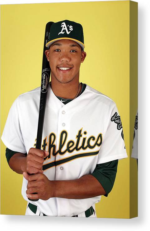 Media Day Canvas Print featuring the photograph Addison Russell by Christian Petersen