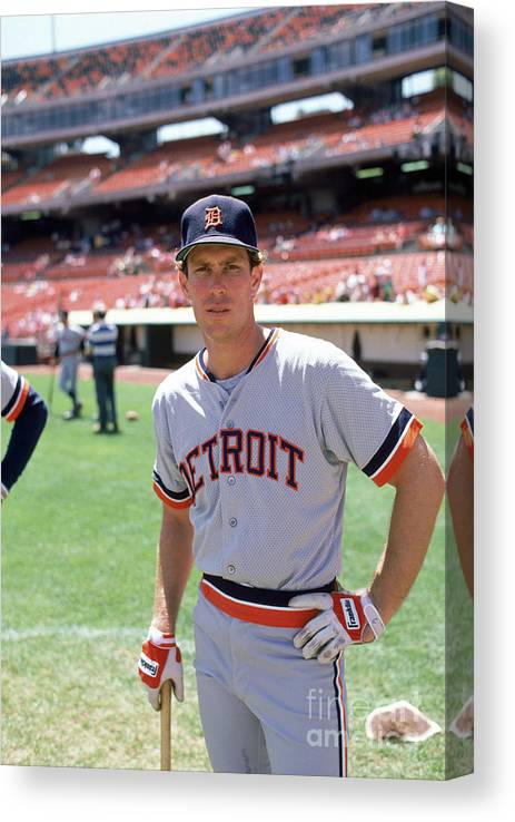 1980-1989 Canvas Print featuring the photograph Alan Trammell by Michael Zagaris