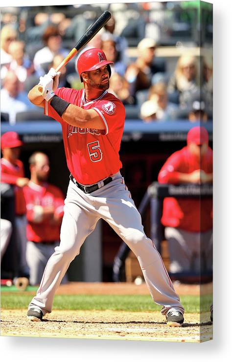 American League Baseball Canvas Print featuring the photograph Albert Pujols by Elsa