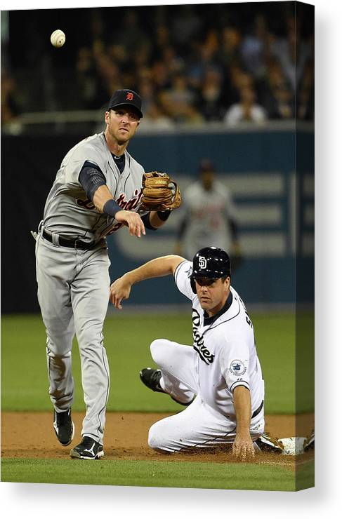 Andrew Romine Canvas Print featuring the photograph Andrew Romine and Seth Smith by Denis Poroy