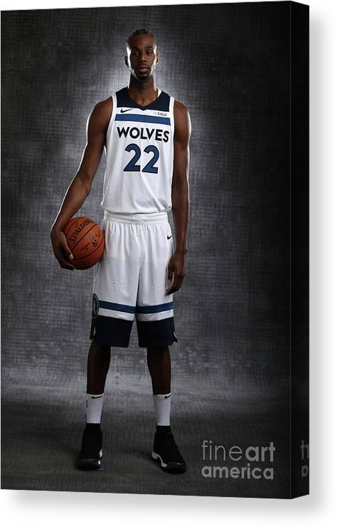 Media Day Canvas Print featuring the photograph Andrew Wiggins by David Sherman