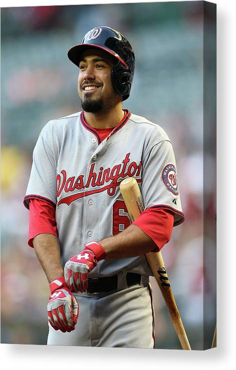 National League Baseball Canvas Print featuring the photograph Anthony Rendon by Christian Petersen