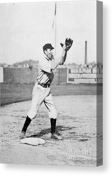People Canvas Print featuring the photograph Babe Ruth by Transcendental Graphics
