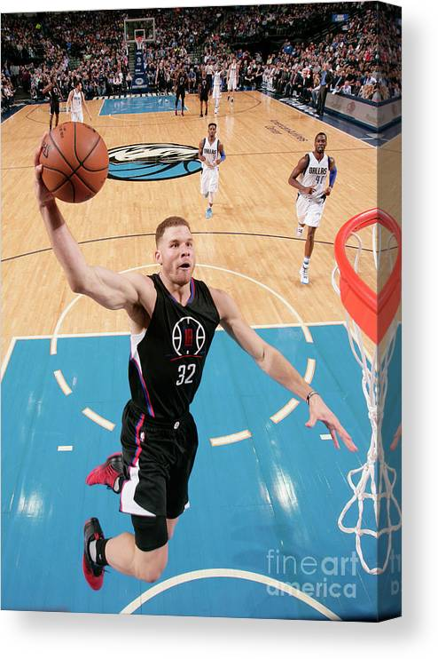 Nba Pro Basketball Canvas Print featuring the photograph Blake Griffin by Glenn James