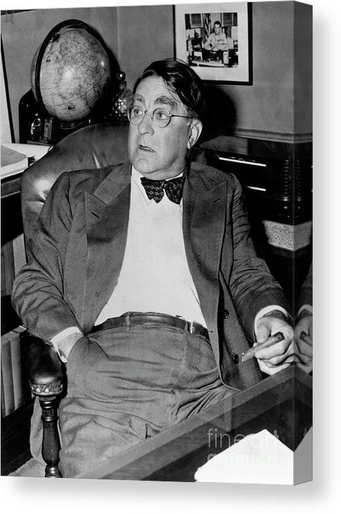 1910-1919 Canvas Print featuring the photograph Branch Rickey by National Baseball Hall Of Fame Library