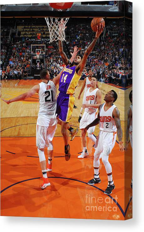 Nba Pro Basketball Canvas Print featuring the photograph Brandon Ingram by Barry Gossage