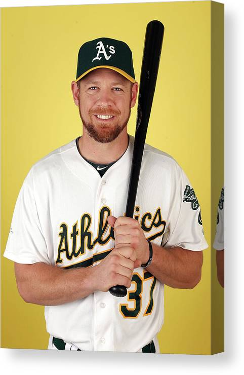 Media Day Canvas Print featuring the photograph Brandon Moss by Christian Petersen