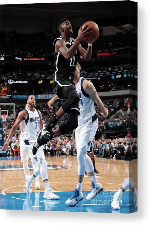 Nba Pro Basketball Canvas Print featuring the photograph Caris Levert by Glenn James