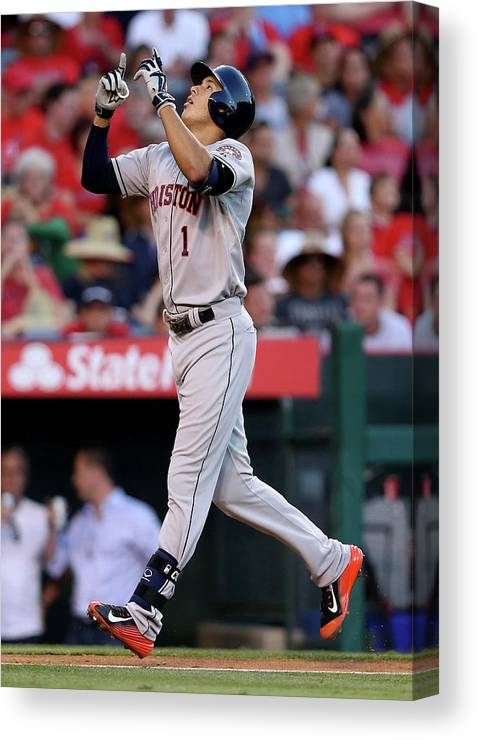 Second Inning Canvas Print featuring the photograph Carlos Correa by Stephen Dunn