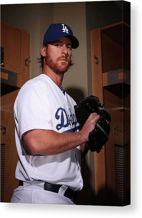 Media Day Canvas Print featuring the photograph Chad Billingsley by Christian Petersen