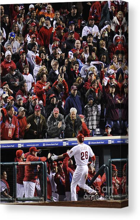 People Canvas Print featuring the photograph Chase Utley by Jeff Zelevansky