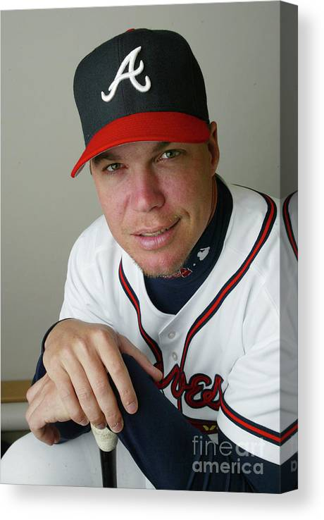 Media Day Canvas Print featuring the photograph Chipper Jones by Rick Stewart