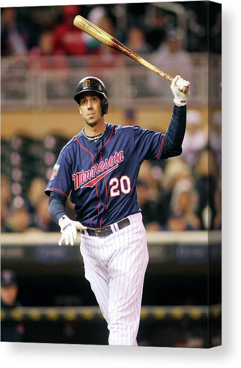Ninth Inning Canvas Print featuring the photograph Chris Colabello by Andy King