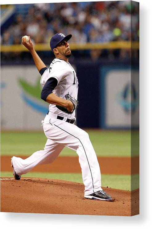 David Price Canvas Print featuring the photograph David Price by Brian Blanco