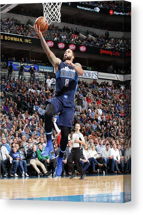 Nba Pro Basketball Canvas Print featuring the photograph Deron Williams by Danny Bollinger