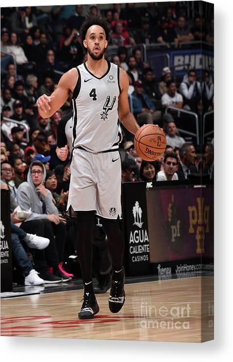 Nba Pro Basketball Canvas Print featuring the photograph Derrick White by Adam Pantozzi