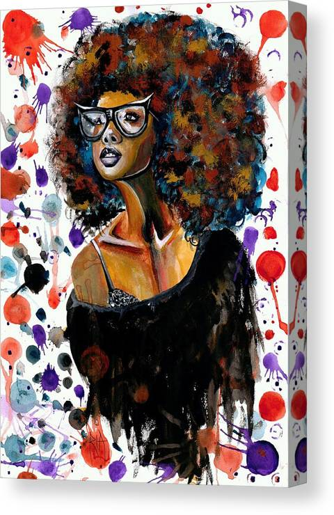 Sexy Canvas Print featuring the painting Dope Chic by Artist RiA