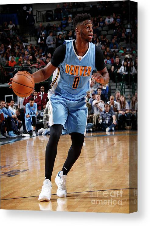 Nba Pro Basketball Canvas Print featuring the photograph Emmanuel Mudiay by Glenn James