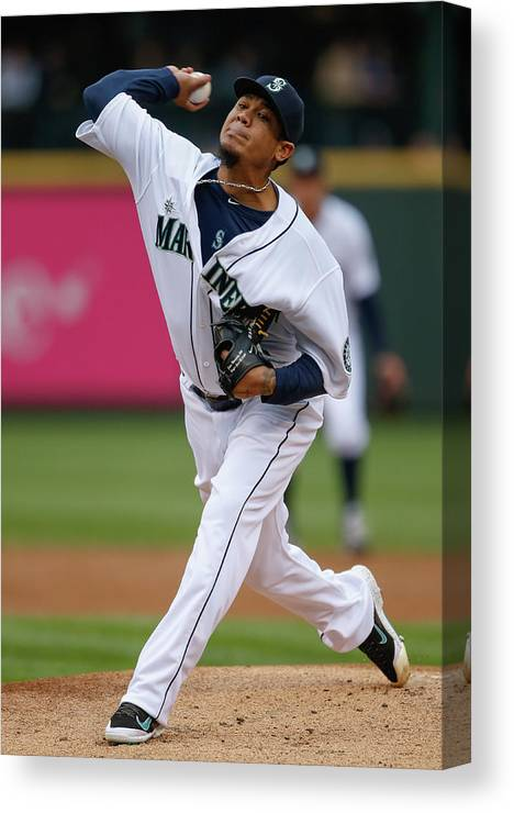 People Canvas Print featuring the photograph Felix Hernandez by Otto Greule Jr