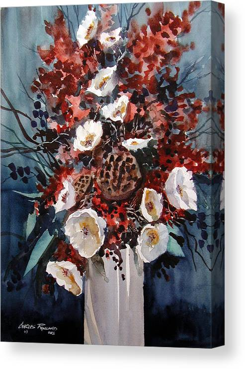 Floral Canvas Print featuring the painting Floral by Charles Rowland